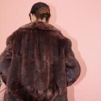 dark shiny mink coat