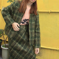 mohair 2p jacket and skirt