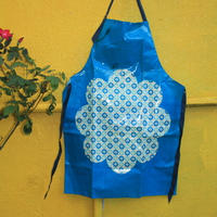 apron blue nylon