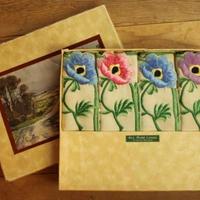 irish flower napkins with a box