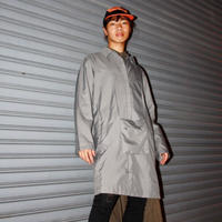 grey rain coat with pouch