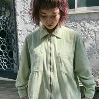 corduroy pastel green shirt