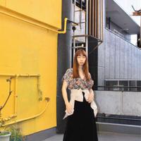 70s maxi velvet black skirt