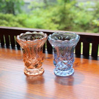 glass candle holder 2 piece set