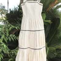 nettie vogues cream heavy cotton 70's dress london w.i.