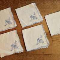blue sisyu napkins 5p set