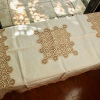 table cloth beige lace