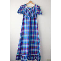 70s checkered dress purple base race