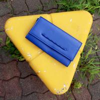 blue clutch bag