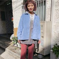 corduroy pastel blue shirt