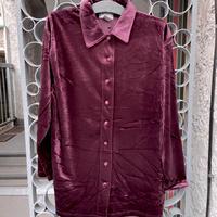 velvet style shirt purple red
