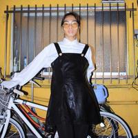 pvc black fake leather dress