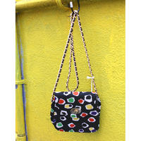 multi color 80's shoulder bag