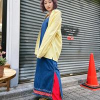 denim dress embroidery