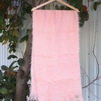 mohiar pink scarf scottish vintage