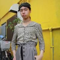 opus rose pattern blouse