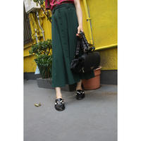 deep green english skirt