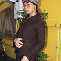 woolen jkt brown designers