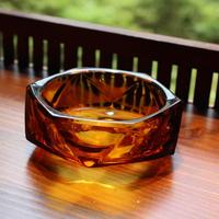 amber ash tray 50-60s