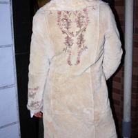 retro 70's afghan skin coat