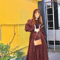 70s dress wine red and race velvet