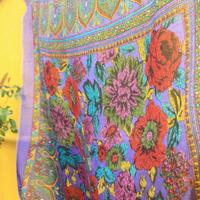 big scarf colorful flower