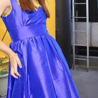 purple blue skater dress