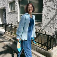 corduroy pastel light blue shirt