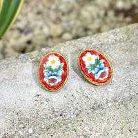 earring 20-30s between ww1-2 red flower
