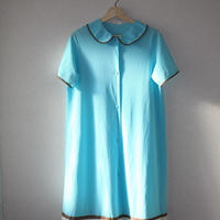 60s ayhlow blue and brown line dress