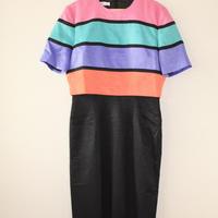 parig 4 color border dress