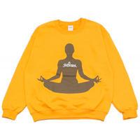 relax X HOTELDRUGS Crew Sweatshirt [ Ash / Gold ]