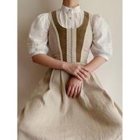 Euro Vintage Lace Up Ribbon Design Long Dress
