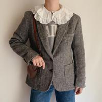 "70's USA "" Harris Tweed "" Herringbone Tailored Jacket"