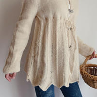 Euro Vintage Ribbon Design Knit Cardigan