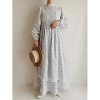 "70's - 80's U.K.  Vintage "" laura ashley "" Flower Print Long Dress"