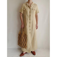 Euro Vintage Front Button Long Shirt Dress