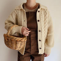 UK Vintage Cable Knit Cardigan