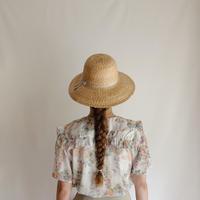 India Cotton Flower Print Sailor Collar Blouse