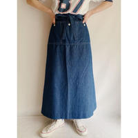 70's USA Large Patch Pocket Wrap Long Skirt