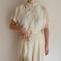 - 60's Euro Vintage Sheer Nylon Blouse