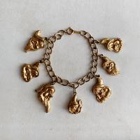 50's USA Seven Dwarfs Charm Bracelet