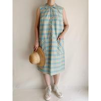 60's USA Plaid Sleeveless Dress