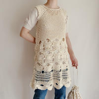 Euro Vintage Crochet Knit Dress