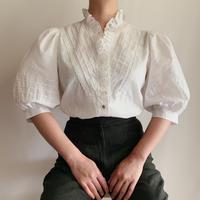 Euro Vintage Scallop Lace Volume Sleeve Blouse