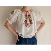 Euro Vintage Flower Embroidery Folk Tunic