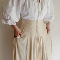 French Vintage Drape Long Skirt