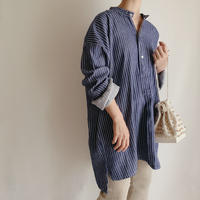 Euro Vintage Striped Fisherman Shirt