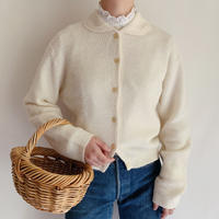 Euro Vintage Round Collar Knit Cardigan