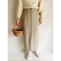 U.K. Vintage Front Buttons Tight Long Skirt